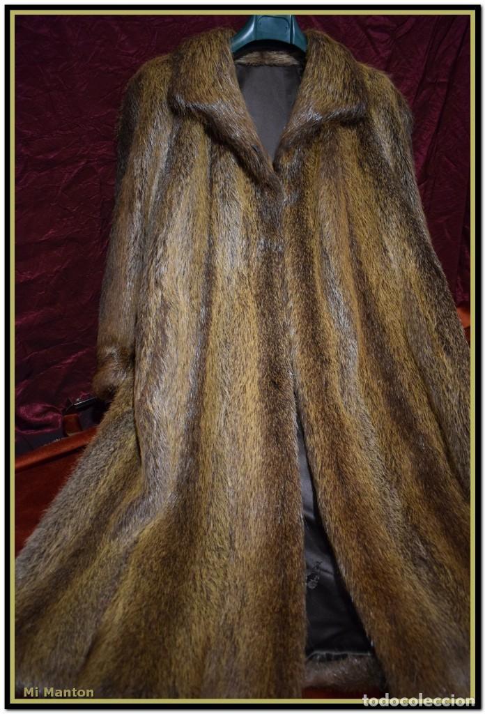 Vintage: Abrigo de piel de nutria - Foto 4 - 187638826