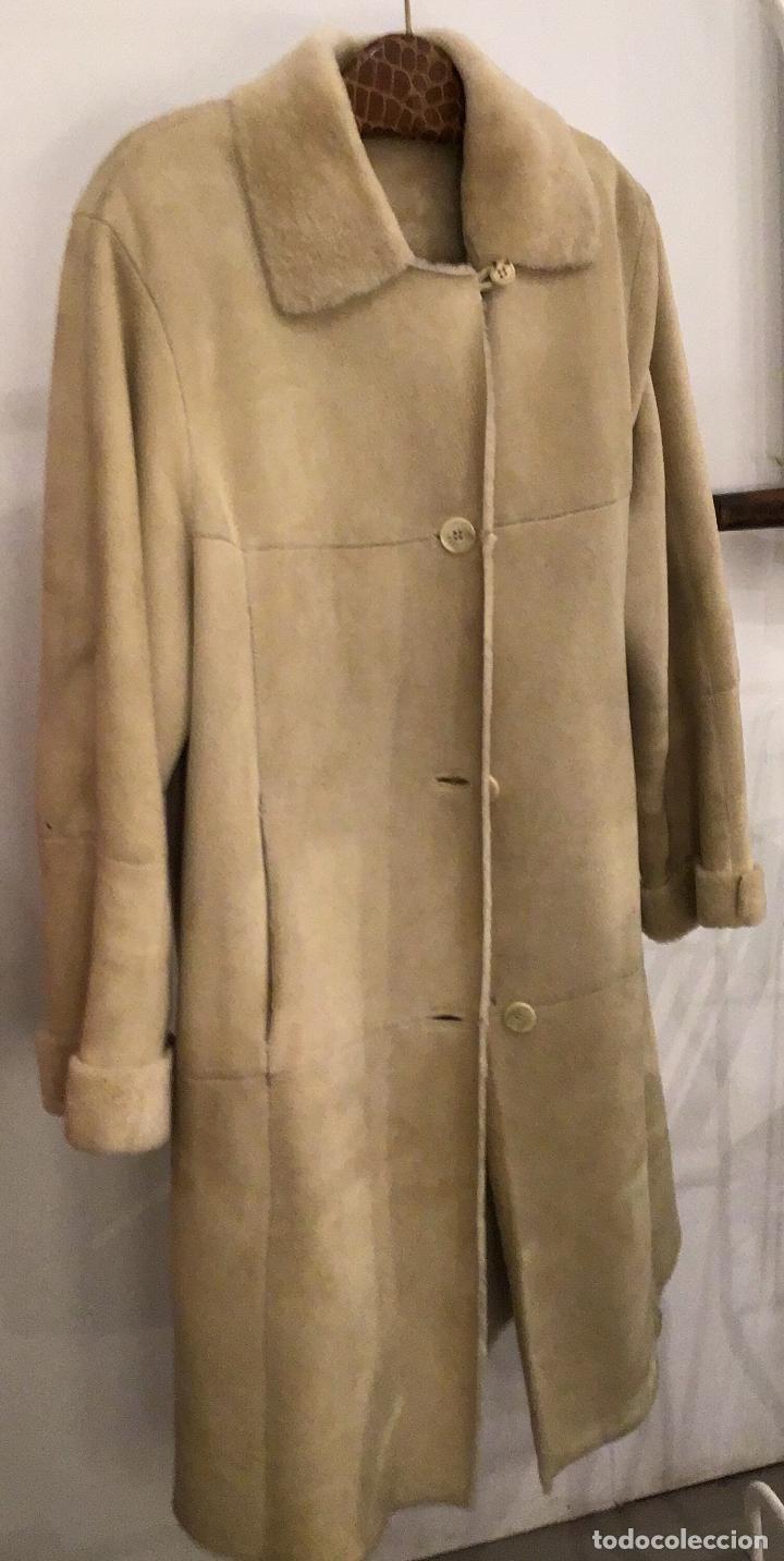 MARC FRANC, ABRIGO DE PIEL, AÑOS 80 (Vintage - Moda - Mujer)