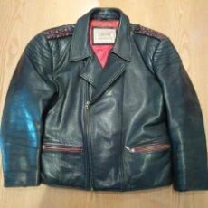 Vintage: CHAQUETA DE CUERO MOTORISTA AÑOS 70 ORIGINAL. Lote 143048786
