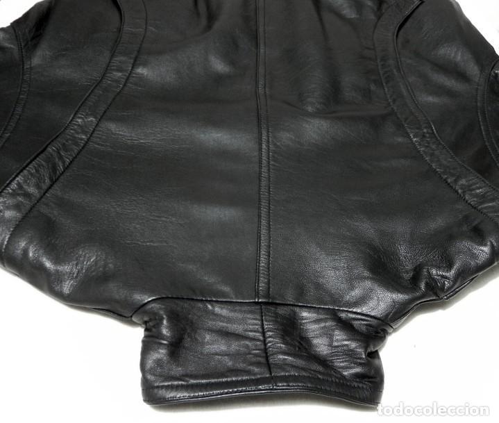 Vintage: Chaqueta Hombre ABRIGO PIEL 100% Talla G Color Negro EMILIA LOPEZ Cuero - Foto 4 - 144376138
