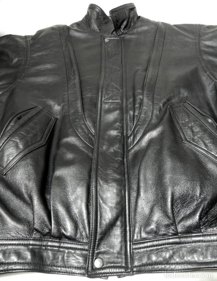 Vintage: Chaqueta Hombre ABRIGO PIEL 100% Talla G Color Negro EMILIA LOPEZ Cuero - Foto 9 - 144376138