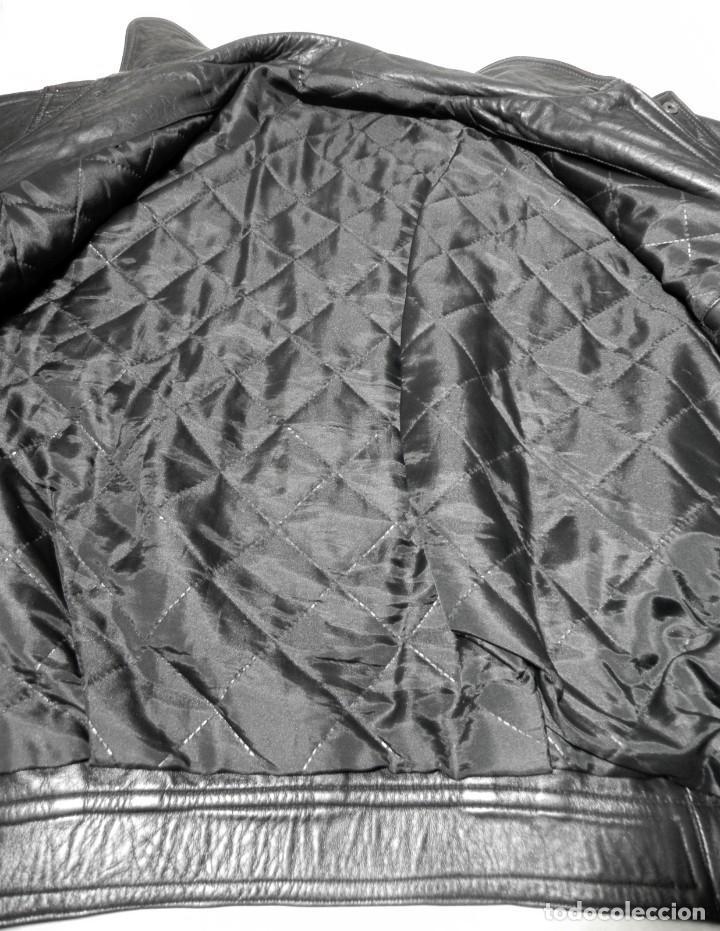 Vintage: Chaqueta Hombre ABRIGO PIEL 100% Talla G Color Negro EMILIA LOPEZ Cuero - Foto 10 - 144376138