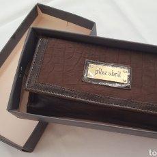 Vintage: PRECIOSO BILLETERO MONEDERO DE PILAR ABRIL. SIN USO. EXCELENTE REGALO. Lote 144920254