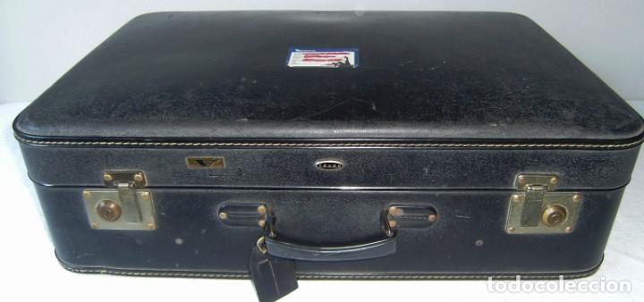 Vintage: Maleta de viaje Tauro con llave. - Foto 2 - 145260722