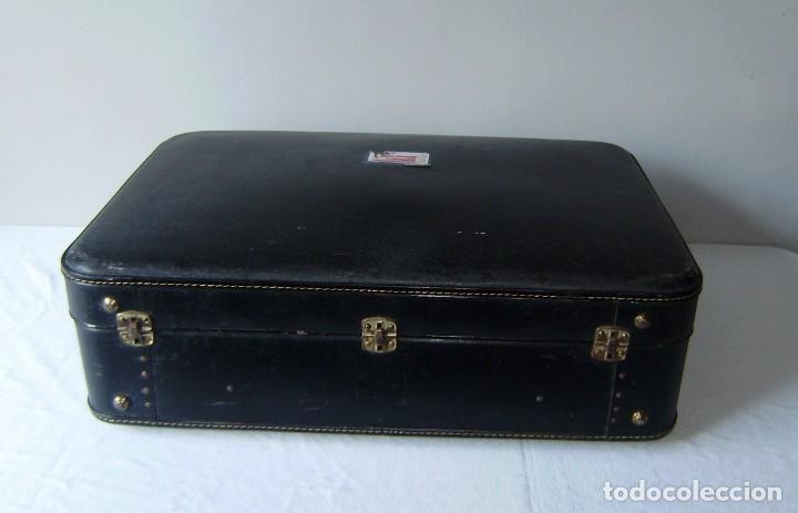 Vintage: Maleta de viaje Tauro con llave. - Foto 7 - 145260722
