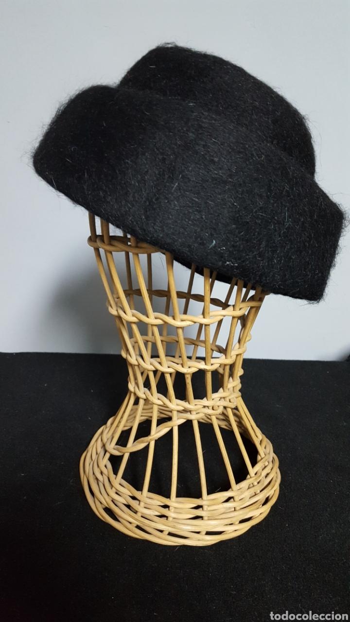 Vintage: Sombrero lana negro vintage Merche sombreros Bilbao años 60 - Foto 2 - 146576805