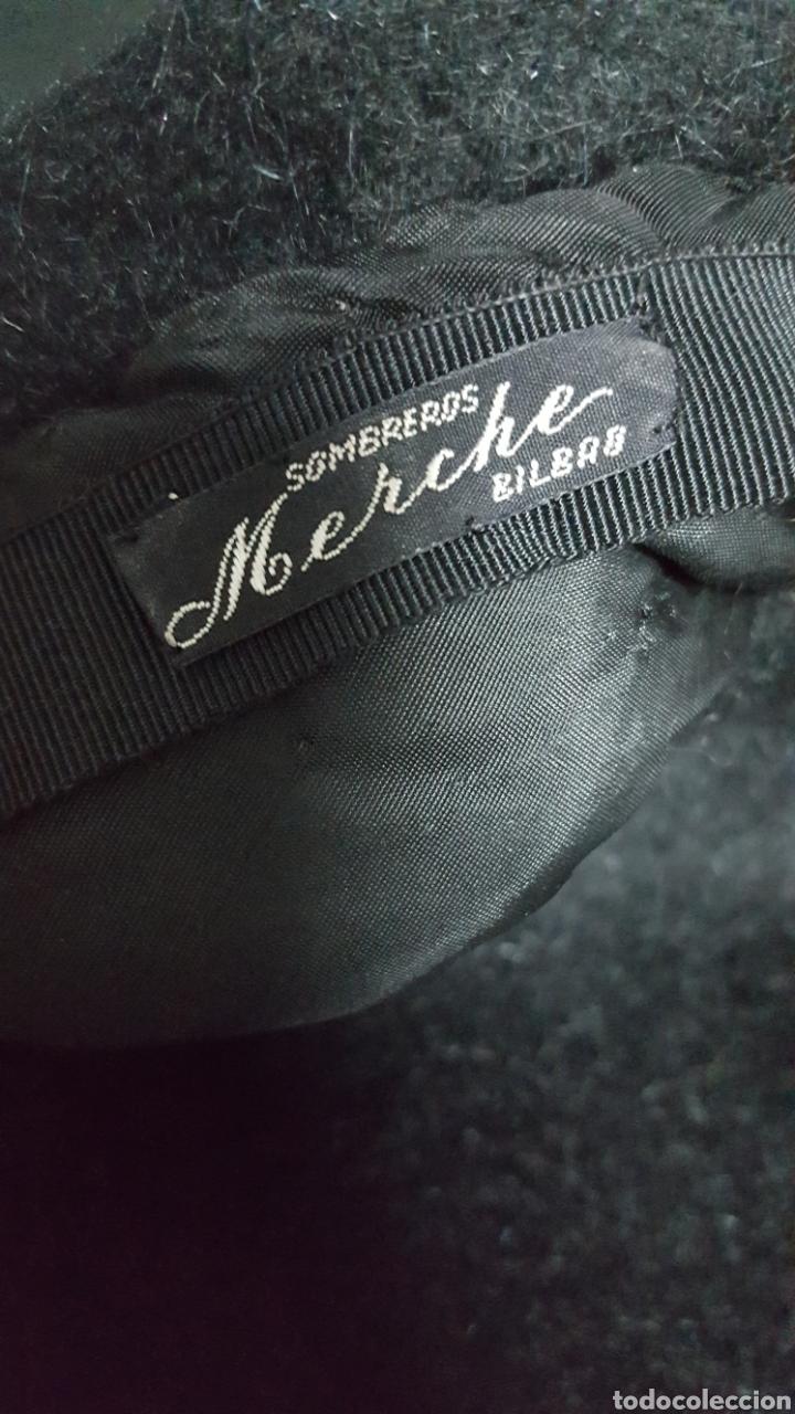 Vintage: Sombrero lana negro vintage Merche sombreros Bilbao años 60 - Foto 3 - 146576805