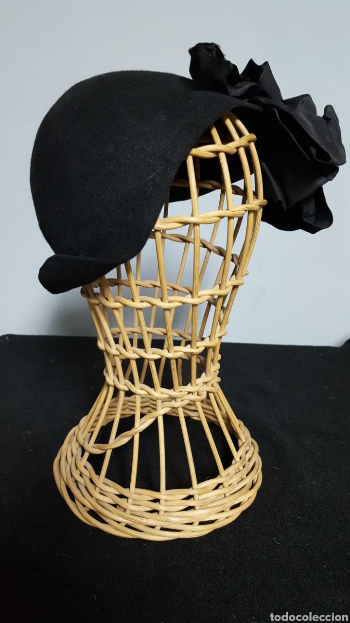 Vintage: Sombrero tocado vintage negro modas vivas Alicante - Foto 2 - 146577628