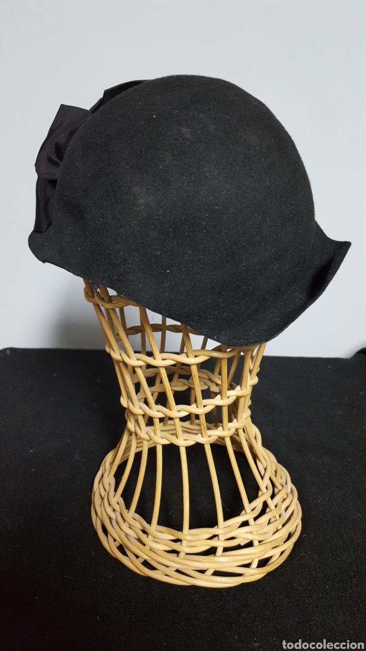 Vintage: Sombrero tocado vintage negro modas vivas Alicante - Foto 3 - 146577628