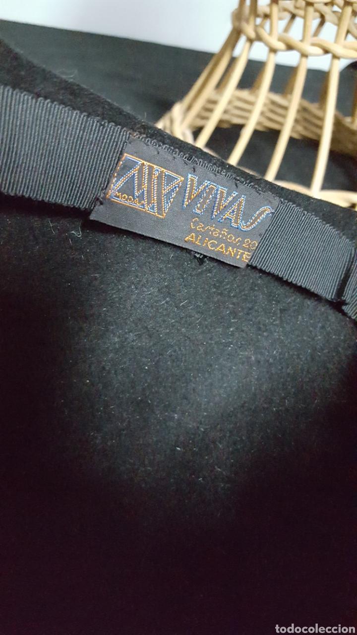 Vintage: Sombrero tocado vintage negro modas vivas Alicante - Foto 4 - 146577628