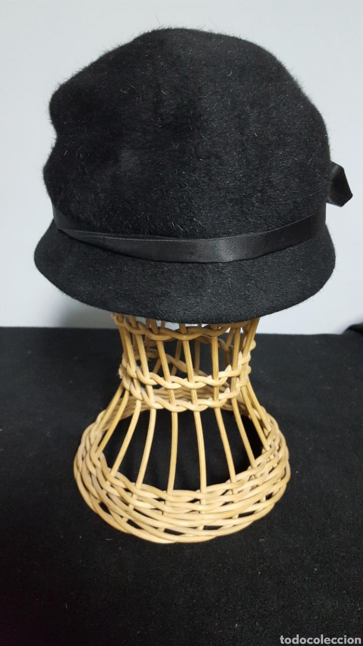 Vintage: Sombrero lana vintage negro años 60 - Foto 2 - 146578256