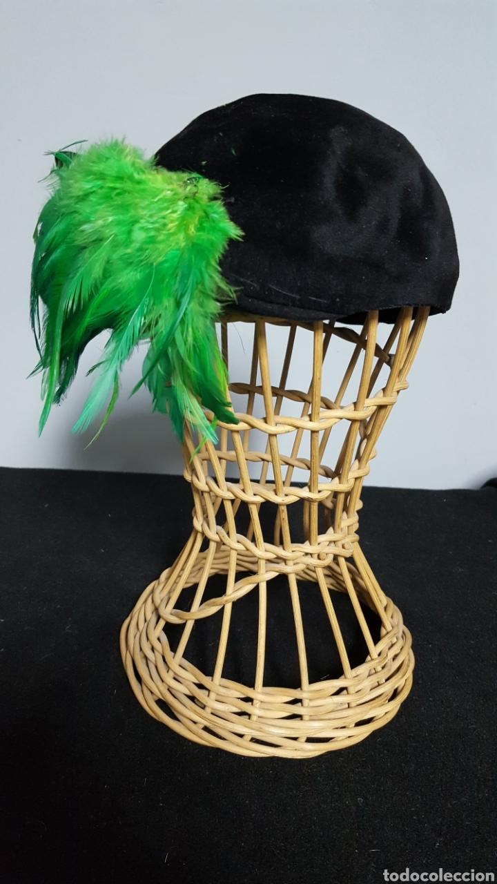 Vintage: Tocado sombrero vintage plumas años 50 - Foto 2 - 146579022
