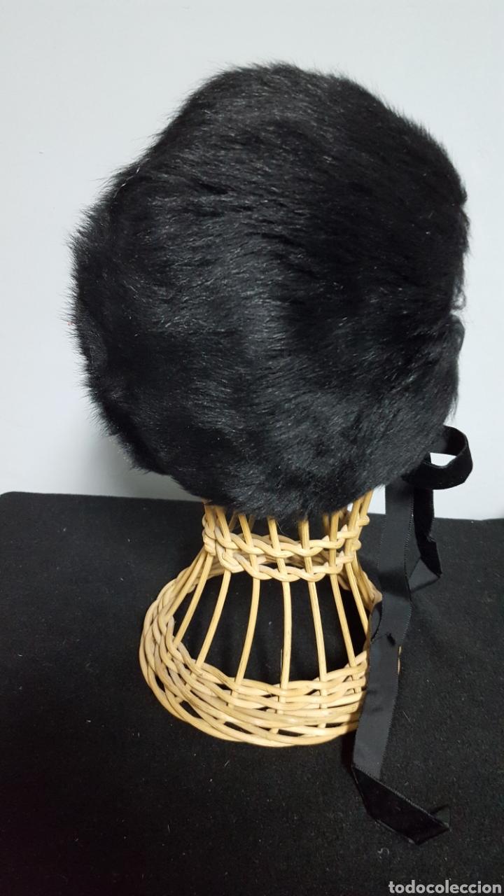 Vintage: Sombrero vintage piel pelo negro - Foto 2 - 146579473