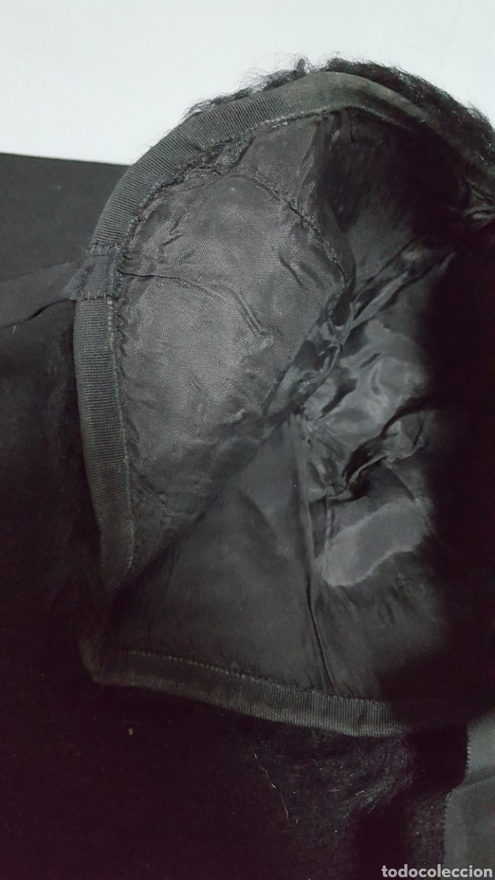 Vintage: Sombrero vintage piel pelo negro - Foto 4 - 146579473