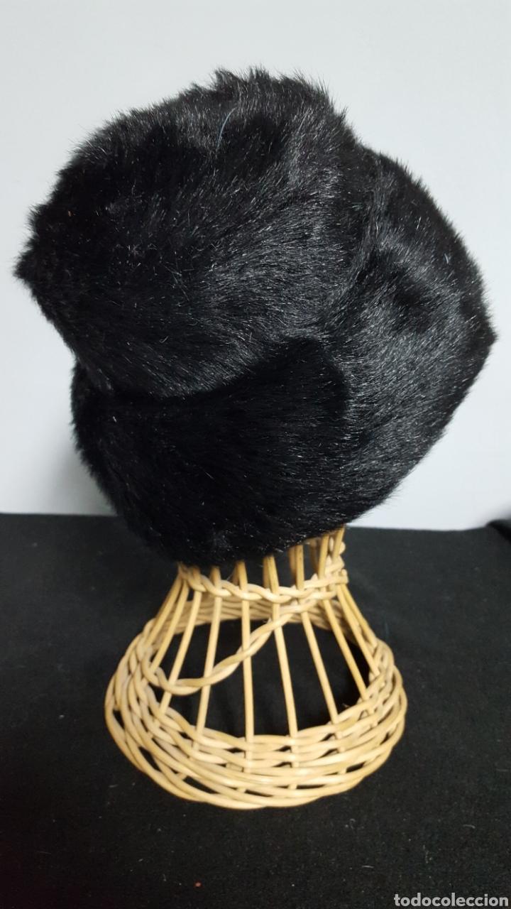 Vintage: Sombrero vintage pelo sintetico negro años 60 - Foto 2 - 146579777