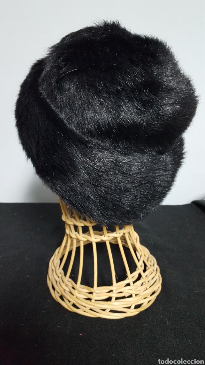 Vintage: Sombrero vintage pelo sintetico negro años 60 - Foto 3 - 146579777