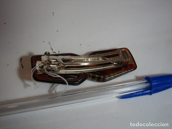 Vintage: Pasador pelo prendedor concha, piedreria, vintage, años 80, Nuevo sin usar.. - Foto 2 - 146980270
