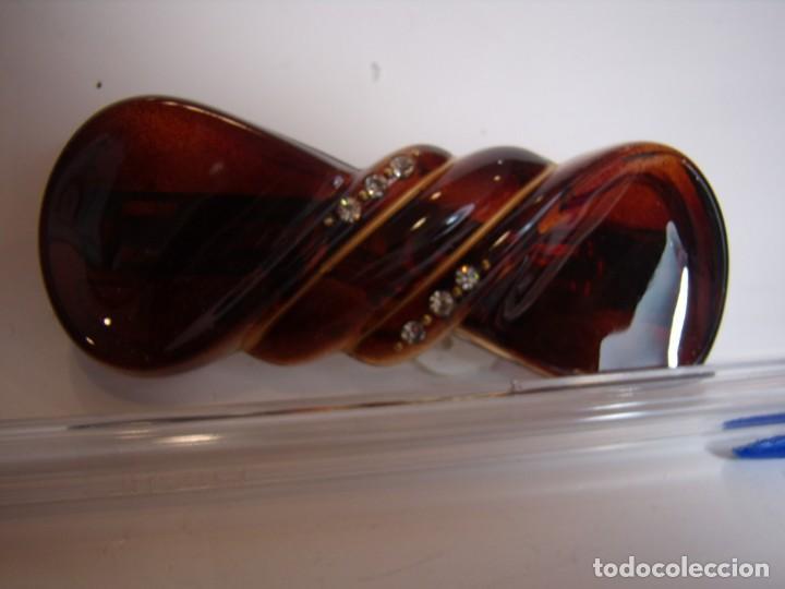 Vintage: Pasador pelo prendedor concha piedreria, vintage, años 80, Nuevo sin usar. - Foto 2 - 146980586