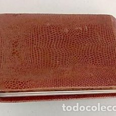 Vintage: ESTUCHE DE MANICURA EN CARTERA DE PIEL. Lote 146985946