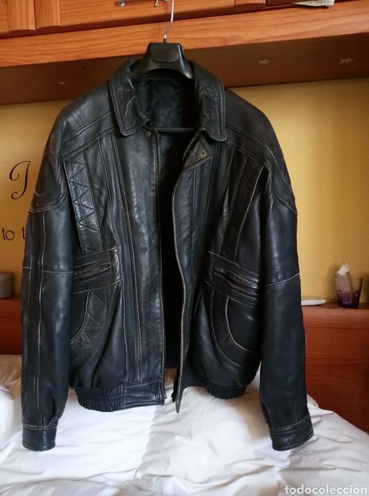 Vintage: Magnífica chaqueta piel aviador. Piel legítima - Foto 3 - 147306161