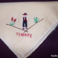 Vintage: PAÑUELO BORDADO TENERIFE-AÑO 80. Lote 147549082