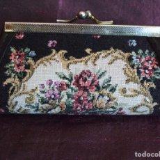Vintage: VINTAGE MONEDERO, BOLSITO BOQUILLA METAL DORADO PETIT POINT. Lote 102505067