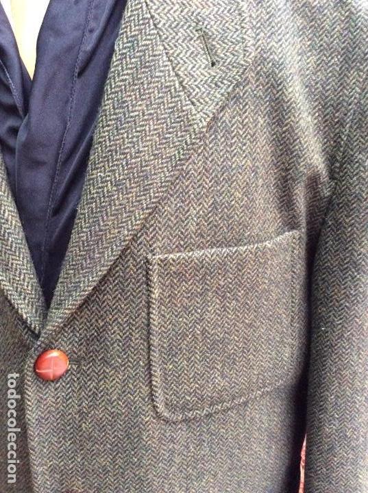 Vintage: Chaqueta de lana 3/4 hombre - color verde oliva - Foto 2 - 147829418