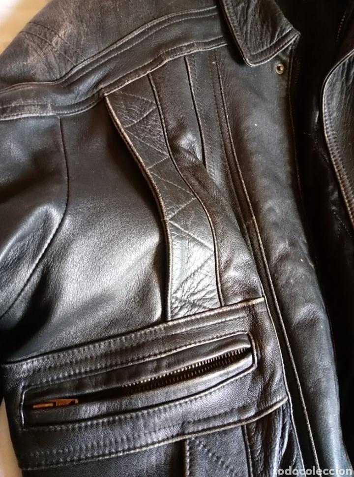 Vintage: Magnífica chaqueta piel aviador. Piel legítima - Foto 2 - 147306161