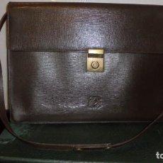 Vintage: ANTIGUO BOLSO CARTERA DE PIEL DE LA CASA LOEWE (ORIGINAL NO REPRODUCCION AÑOS 70) MODELO LOEWE MADRI. Lote 148912066