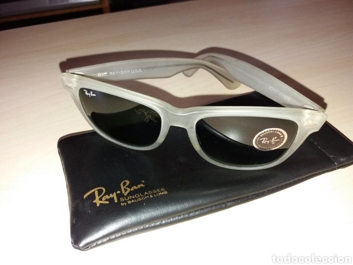 VINTAGE RAY BAN BAUSCH & LOMB B&L - WAYFARER - MADE IN U.S.A. - FROSTED G15 GREY (Vintage - Moda - Hombre)