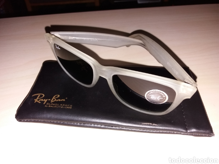 Vintage: Vintage RAY BAN Bausch & Lomb B&L - WAYFARER - Made in U.S.A. - FROSTED G15 GREY - Foto 2 - 149204150