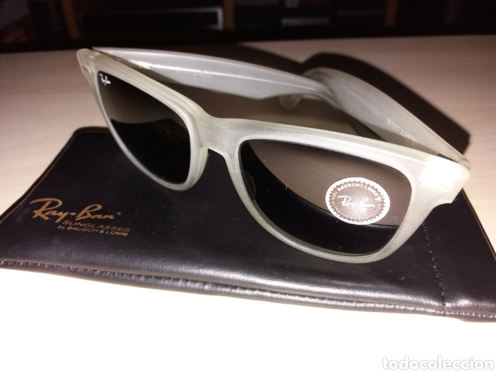 Vintage: Vintage RAY BAN Bausch & Lomb B&L - WAYFARER - Made in U.S.A. - FROSTED G15 GREY - Foto 3 - 149204150