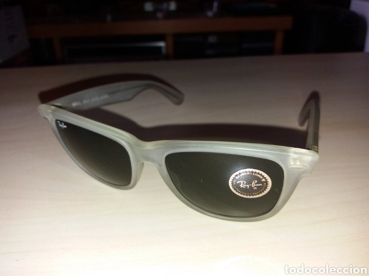 Vintage: Vintage RAY BAN Bausch & Lomb B&L - WAYFARER - Made in U.S.A. - FROSTED G15 GREY - Foto 7 - 149204150