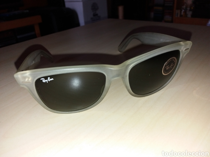 Vintage: Vintage RAY BAN Bausch & Lomb B&L - WAYFARER - Made in U.S.A. - FROSTED G15 GREY - Foto 8 - 149204150