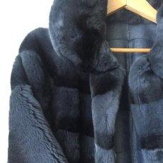 Vintage - Abrigo azul piel conejo T-U - 149956854