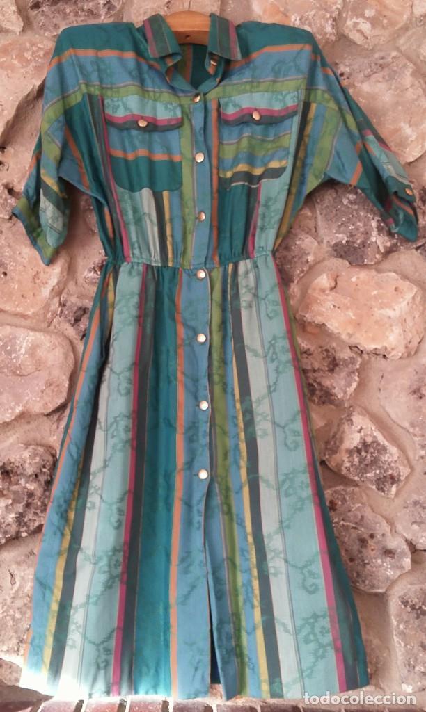 VESTIDO CAMISERO AÑOS 70 (Vintage - Moda - Mujer)