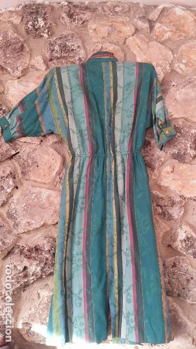 Vintage: Vestido camisero años 70 - Foto 2 - 150848386