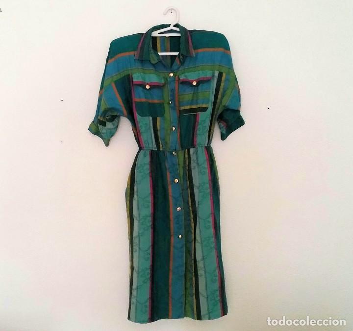 Vintage: Vestido camisero años 70 - Foto 5 - 150848386