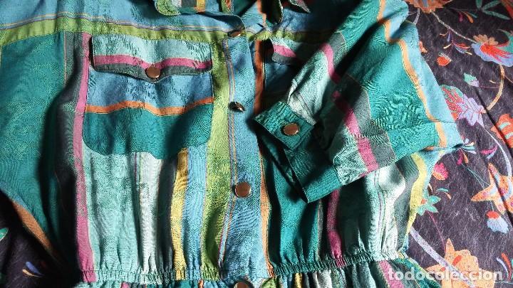 Vintage: Vestido camisero años 70 - Foto 7 - 150848386