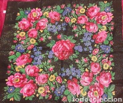Vintage: Dos pañuelos vintage años 80 japoneses estampado de flores - Foto 2 - 150849822