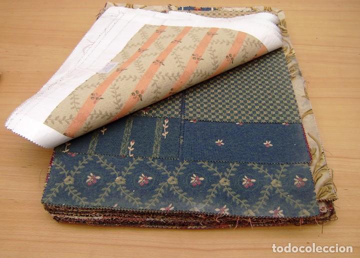 Vintage: Super lote de mas de 300 muestrario de telas. - Foto 7 - 150850410