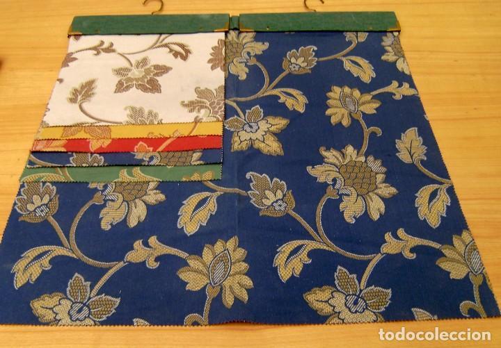 Vintage: Super lote de mas de 300 muestrario de telas. - Foto 45 - 150850410