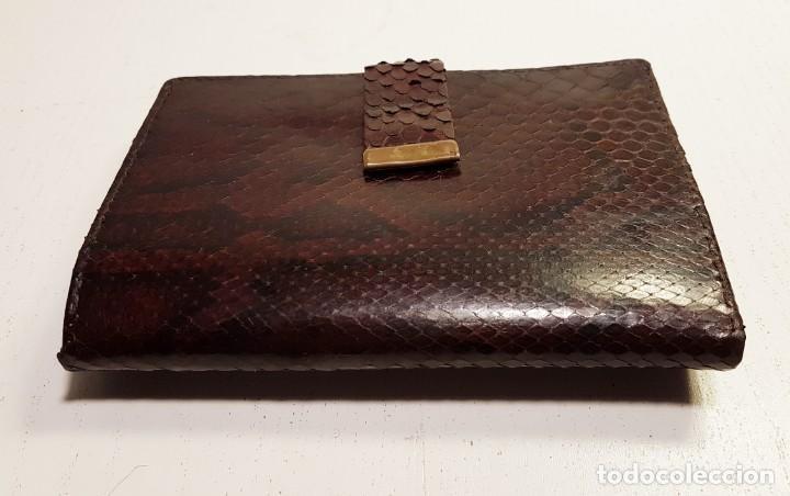 Vintage: Cartera vintage de piel de serpiente genuina. - Foto 2 - 151410998