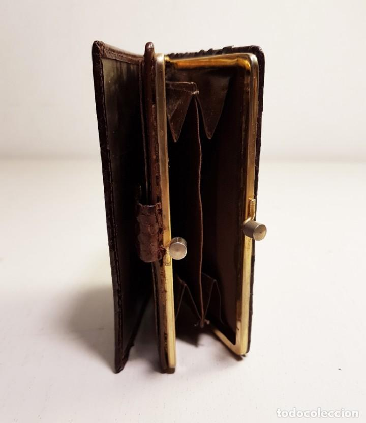Vintage: Cartera vintage de piel de serpiente genuina. - Foto 6 - 151410998