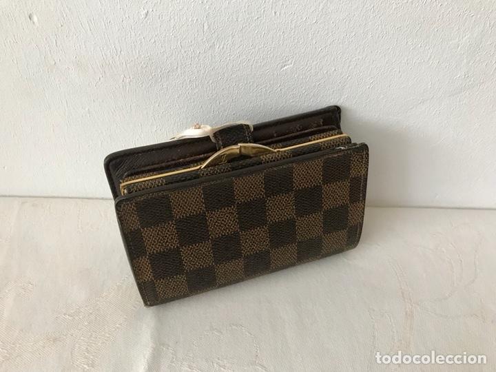 Vintage: Cartera billetera Louis Vuitton. Damier. Cuero 100%. Made in France. - Foto 2 - 151971108