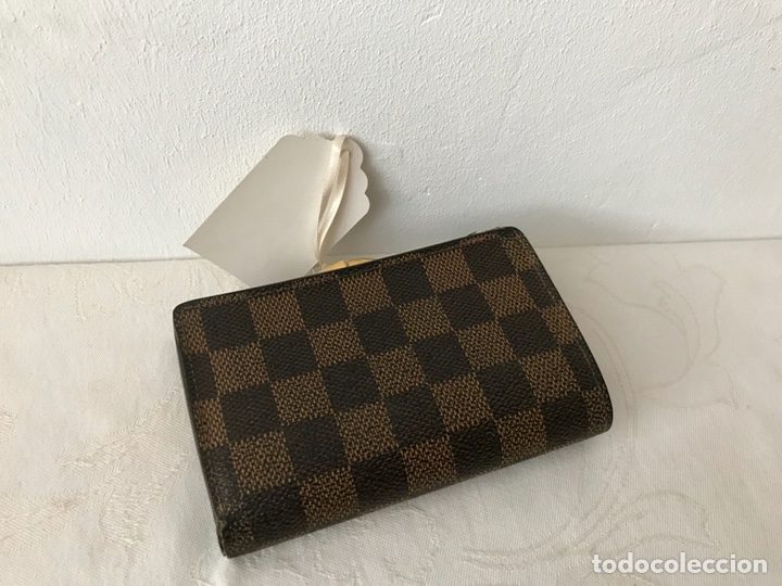 Vintage: Cartera billetera Louis Vuitton. Damier. Cuero 100%. Made in France. - Foto 3 - 151971108