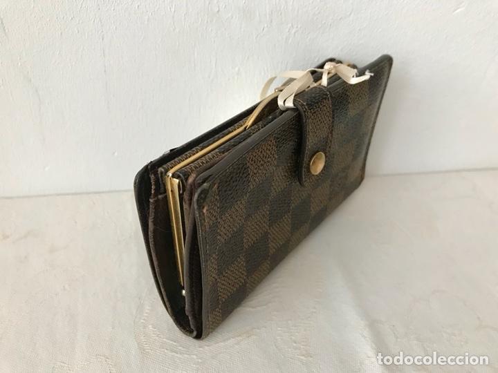 Vintage: Cartera billetera Louis Vuitton. Damier. Cuero 100%. Made in France. - Foto 4 - 151971108