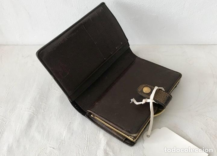 Vintage: Cartera billetera Louis Vuitton. Damier. Cuero 100%. Made in France. - Foto 5 - 151971108