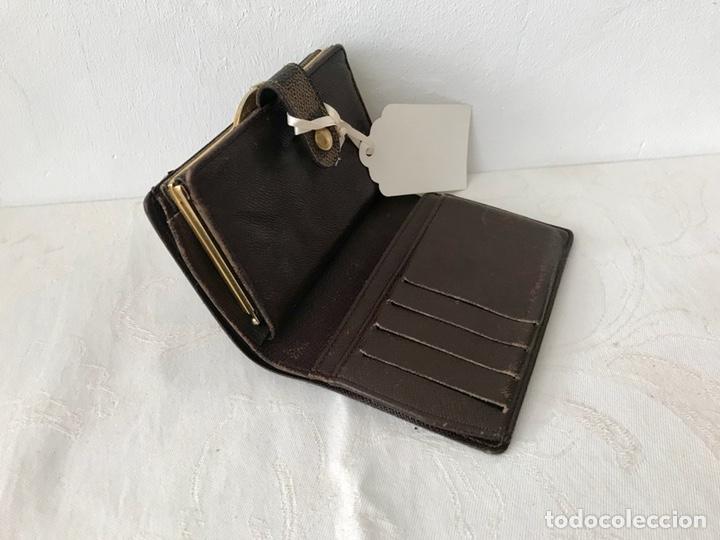 Vintage: Cartera billetera Louis Vuitton. Damier. Cuero 100%. Made in France. - Foto 9 - 151971108