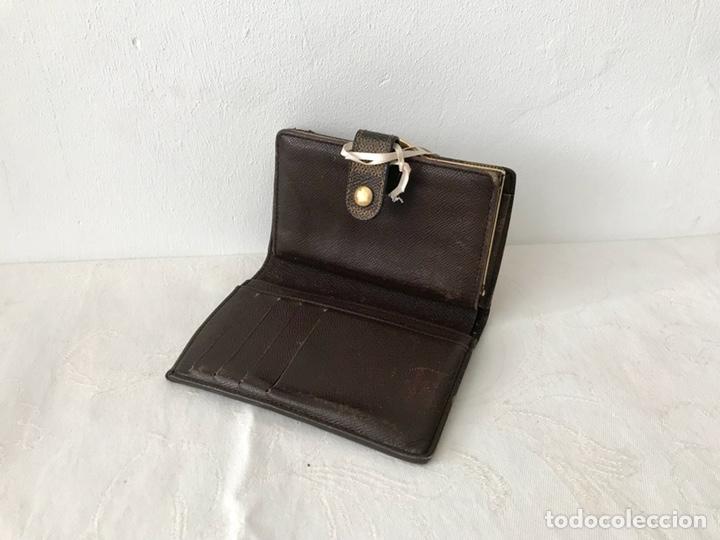 Vintage: Cartera billetera Louis Vuitton. Damier. Cuero 100%. Made in France. - Foto 10 - 151971108